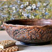 """Посуда ручной работы. Ярмарка Мастеров - ручная работа Керамическая чаша """"Летнее настроение"""" глиняная посуда. Handmade."""