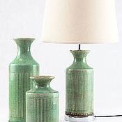 Для дома и интерьера ручной работы. Ярмарка Мастеров - ручная работа Лампа настольная оливия с абажуром керамика  винтаж. Handmade.
