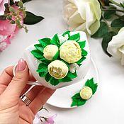 Кружки ручной работы. Ярмарка Мастеров - ручная работа Чайная пара с цветами. Handmade.
