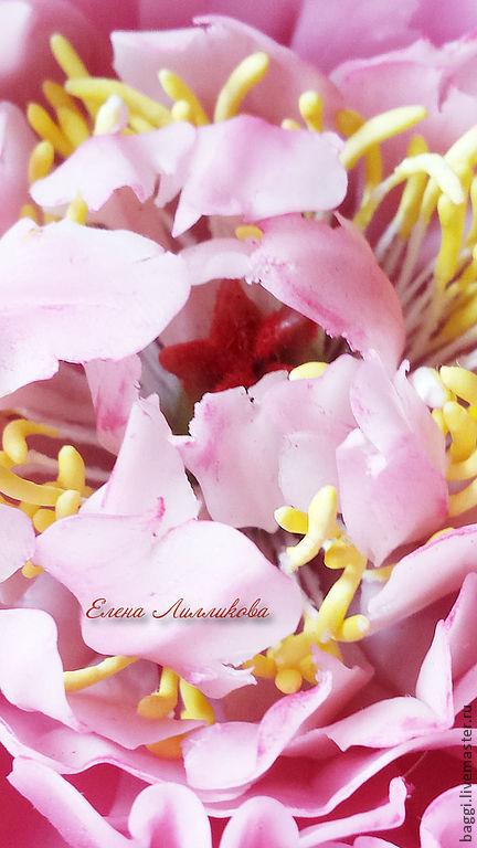 Цветы ручной работы. Ярмарка Мастеров - ручная работа. Купить Розовый Пион.. Handmade. Бледно-розовый, интерьерная композиция, проволока