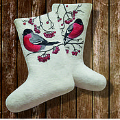 """Обувь ручной работы. Ярмарка Мастеров - ручная работа Валенки дизайнерские """"Снегири"""". Handmade."""