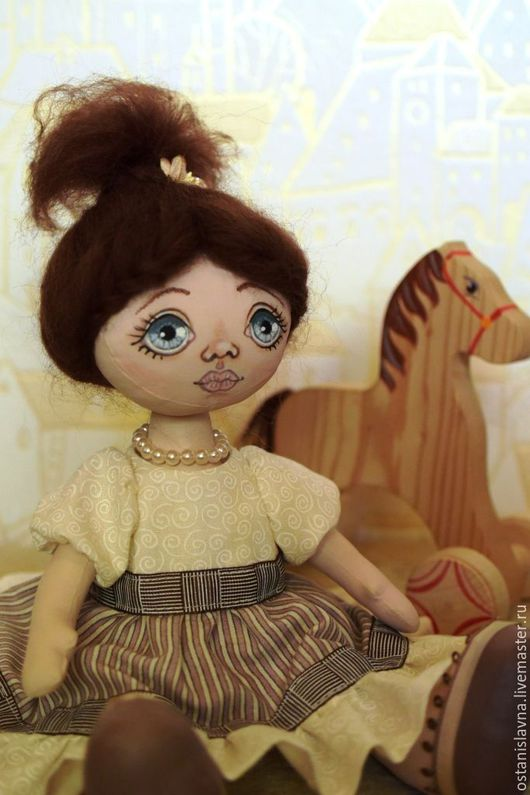 Куклы тыквоголовки ручной работы. Ярмарка Мастеров - ручная работа. Купить Кукла текстильная. Лика (30 см.). Handmade.