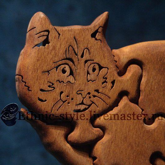 Игрушки животные, ручной работы. Ярмарка Мастеров - ручная работа. Купить Курильский бобтейл (фигурка-пазл). Handmade. Рыжий, кот