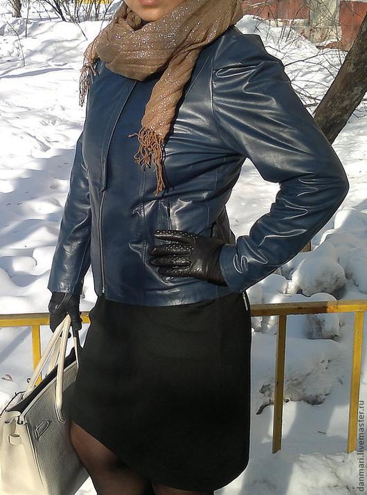 Верхняя одежда ручной работы. Ярмарка Мастеров - ручная работа. Купить Женская кожаная куртка 100% кожа. Handmade.