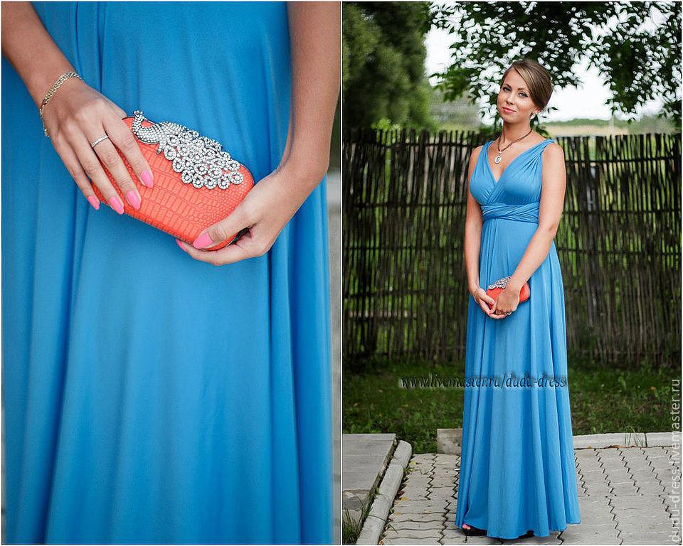 Платья для подружек невесты голубые