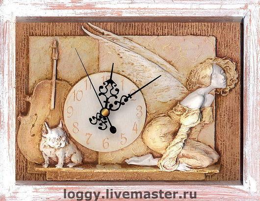 Часы для дома ручной работы. Ярмарка Мастеров - ручная работа. Купить У меня есть тайна.... Handmade. Подарок подруге