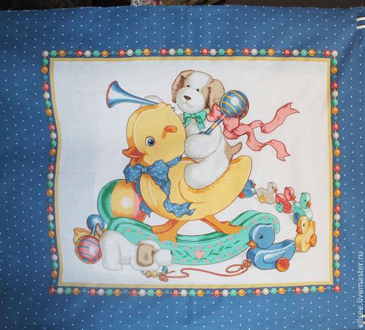 """Шитье ручной работы. Ярмарка Мастеров - ручная работа. Купить Панель """"Любимые игрушки"""" №7. Handmade. Ткани, панели текстильные"""