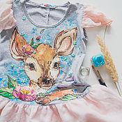 Работы для детей, handmade. Livemaster - original item dress for girl Bambi. Handmade.
