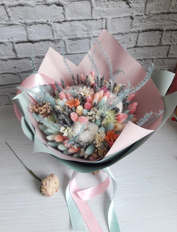 Букет сухоцветов из коллекции Мятное настроение - Мятный зефир, Букеты, Москва, Фото №1