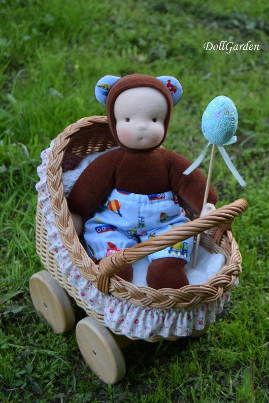Вальдорфская игрушка ручной работы. Ярмарка Мастеров - ручная работа. Купить Мишутка, мягкая игрушка для детей. Handmade. Коричневый