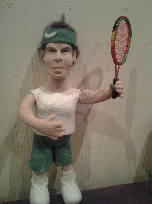 Портретные куклы ручной работы. Ярмарка Мастеров - ручная работа. Купить Портретная кукла  на заказ по фото - Рафа Надаль. Handmade.