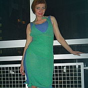 Одежда ручной работы. Ярмарка Мастеров - ручная работа Вязаное платье - сарафан + топ. Handmade.