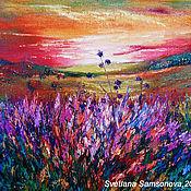 Pictures handmade. Livemaster - original item Oil painting the landscape,
