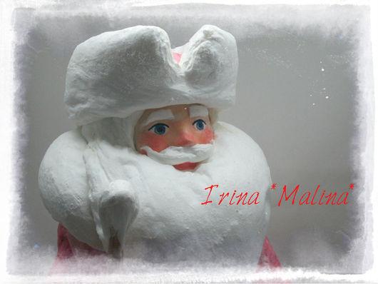 Сказочные персонажи ручной работы. Ярмарка Мастеров - ручная работа. Купить Дед Мороз Ватный Продано!. Handmade. Ярко-красный