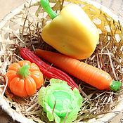 """Цветы ручной работы. Ярмарка Мастеров - ручная работа Подарок """"овощной"""". Мыло овощи. Handmade."""