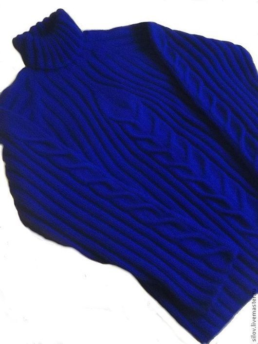 Для мужчин, ручной работы. Ярмарка Мастеров - ручная работа. Купить Теплый вязаный свитер-лапша.. Handmade. Свитер