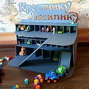 Техника, роботы, транспорт ручной работы. Ярмарка Мастеров - ручная работа Деревянная игрушка Парковка гораж для машинок. Handmade.