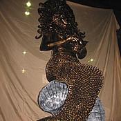 """Для дома и интерьера ручной работы. Ярмарка Мастеров - ручная работа Арт.16   Кованая скульптура """"Русалочка"""". Handmade."""