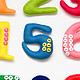 Развивающие игрушки ручной работы. Набор цифр из фетра. PandaStudio. Интернет-магазин Ярмарка Мастеров. Мягкие цифры, развивающая игрушка