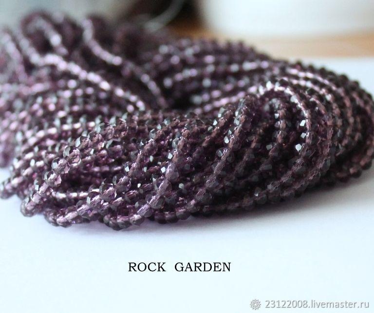 Zircon under amethyst 3h4mm -thread 48cm, Beads1, St. Petersburg,  Фото №1