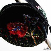 Сумки и аксессуары handmade. Livemaster - original item Handbag with embroidery Mac. Handmade.