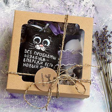 Сувениры и подарки ручной работы. Ярмарка Мастеров - ручная работа Оригинальный лавандовый набор с  котиком забывашкой. Handmade.