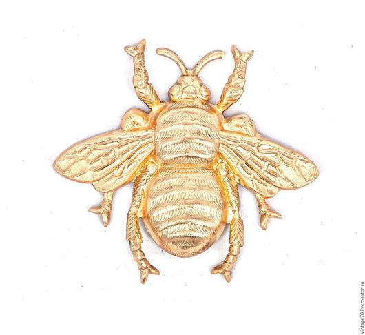 Для украшений ручной работы. Ярмарка Мастеров - ручная работа. Купить Винтажная фурнитура,винтажный штамп самая большая пчела. Handmade.