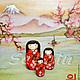 """Народные куклы ручной работы. Японская кукла kokeshi """"Каяо"""". Won SaeJin. Ярмарка Мастеров. ВЫЖИГАНИЕ ПО ДЕРЕВУ, кукла"""