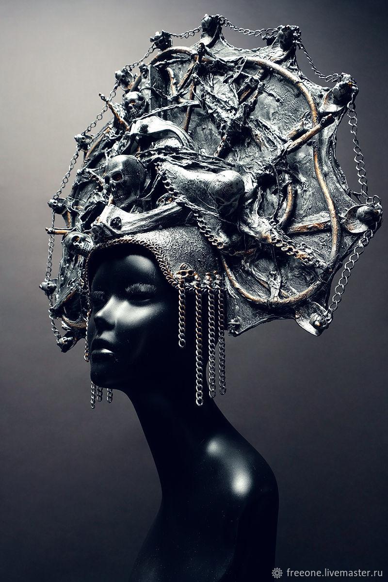 Кокошник.Темное Серебро, Народные украшения, Москва,  Фото №1