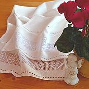 Русский стиль handmade. Livemaster - original item Towel, path on the table with embroidery, towel, linen, merezhka. Handmade.