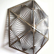 """Для дома и интерьера ручной работы. Ярмарка Мастеров - ручная работа Настенные часы """"Геометрия"""". Handmade."""