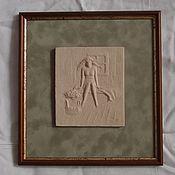 """Картины и панно ручной работы. Ярмарка Мастеров - ручная работа Рельеф керамический """" Женская баня"""" 1. Handmade."""