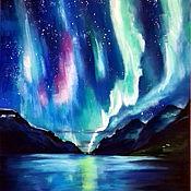 Картины и панно handmade. Livemaster - original item Pictures: Northern lights. Handmade.