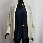 Одежда handmade. Livemaster - original item Cape cardigan with cuffs made of kid-mohair. Handmade.