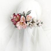 Украшения handmade. Livemaster - original item Tiara with silk flowers