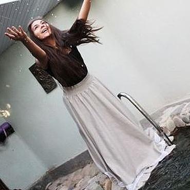 """Одежда ручной работы. Ярмарка Мастеров - ручная работа Длинная юбка с кружевом """"Нимфа"""", в пол. Handmade."""