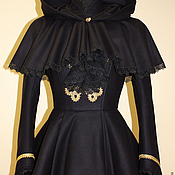 Одежда handmade. Livemaster - original item Winter coat with detachable Cape Exclusive will not be repeated. Handmade.