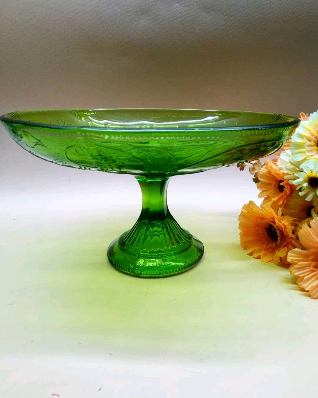 Винтаж: Антикварная фруктовница, насыщенного зелёного цвета, Винтажные предметы интерьера, Пенза, Фото №1