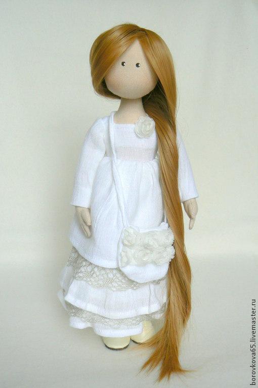 Коллекционные куклы ручной работы. Ярмарка Мастеров - ручная работа. Купить Жаклин.. Handmade. Белый, подарок женщине, синтепон