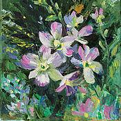 Картины ручной работы. Ярмарка Мастеров - ручная работа Картина маслом Орхидея Ветка орхидеи пейзаж с цветами. Handmade.