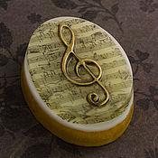 """Косметика ручной работы. Ярмарка Мастеров - ручная работа Мыло """"Скрипичный ключ"""". Handmade."""