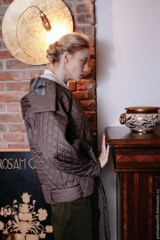 Верхняя одежда ручной работы. Ярмарка Мастеров - ручная работа. Купить удлинённая  куртка -  бомбер - трансформер. Handmade. Куртка, бомбер