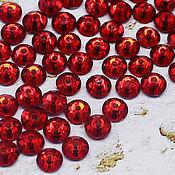 Материалы для творчества handmade. Livemaster - original item Crystals: Rhinestones-sequins Siam 5h5 mm sewn 10 PCs. Handmade.