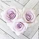 Заколки ручной работы. Набор шпилек с розами - Сиреневые (3 шт). Tanya Flower. Интернет-магазин Ярмарка Мастеров.