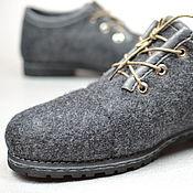 """Обувь ручной работы. Ярмарка Мастеров - ручная работа Туфли валяные женские """"Элегантный серый"""". Handmade."""