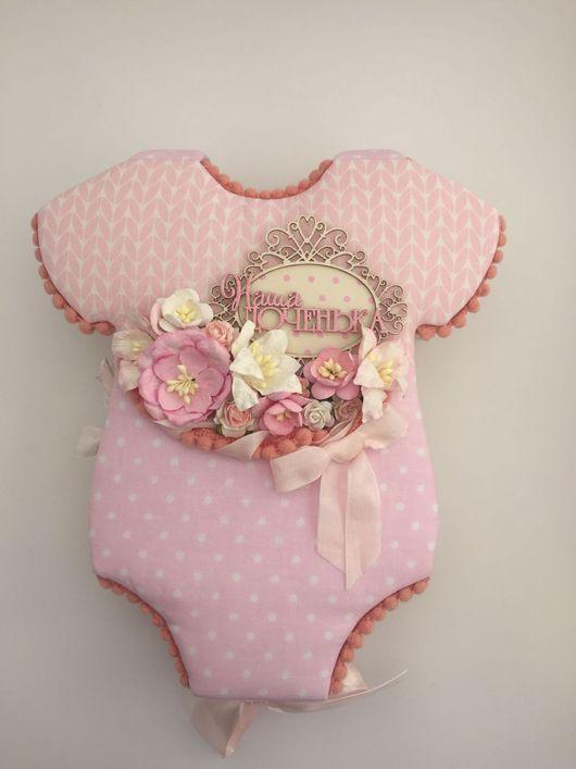 """Подарки для новорожденных, ручной работы. Ярмарка Мастеров - ручная работа. Купить Детский альбом """"Бодик"""". Handmade. Бледно-розовый, полубусины"""