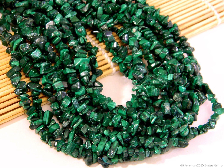 Baby stone malachite, thread 83 see the thread, Beads1, Saratov,  Фото №1