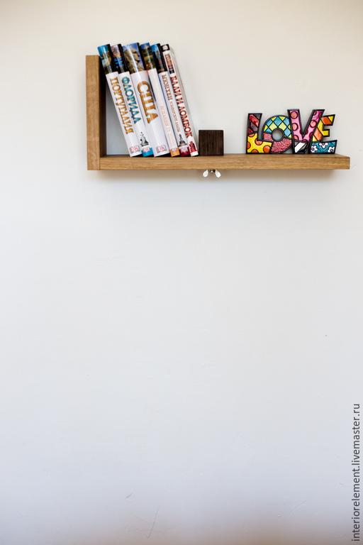 Мебель ручной работы. Ярмарка Мастеров - ручная работа. Купить Полка для CD-DVD-мелких книг. Handmade. Полка для книг