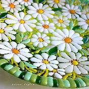 Посуда handmade. Livemaster - original item dish glass fusing Chamomile field. Handmade.