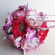 Свадебный салон handmade. Livemaster - original item Raspberry brooch bouquet. Handmade.